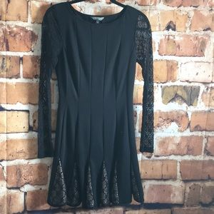 Catherine Malandrino Black Dress with Lace arms s6